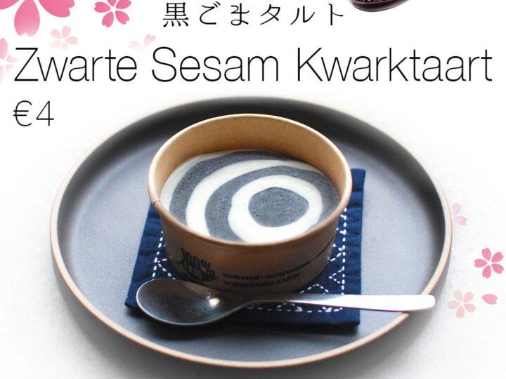 Zwarte Sesam Kwarktaart|€4